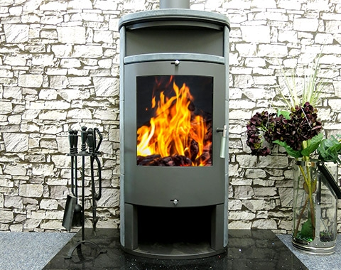 Cast Iron Stoves Apollo 13kw Contemporary Multi Fuel