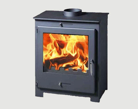 15kw Contemporary Stove with Back Boiler For Central Heating/Hot Water