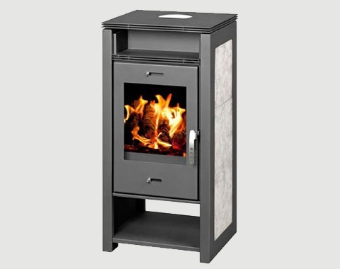 Cast Iron Stoves | Nasa 12kw Multi-Fuel Stove With Back Boiler for