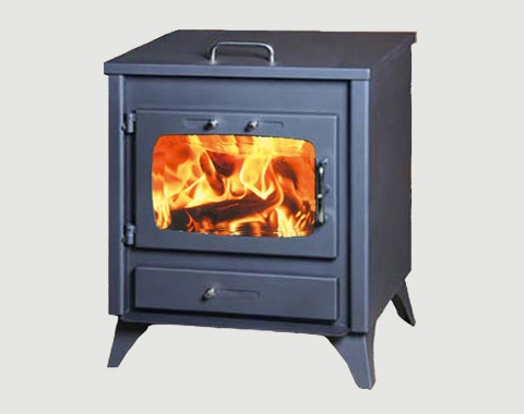 Wood Burning Stove With Hot Plate Hot Top 12kw Wood Burning