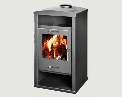 Wood Burning Stove with Back Boiler for central heating and hot water